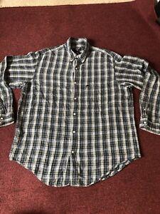 Ralph Lauren  men'shirt Blue checks multicolor Checked Size Large long sleeve