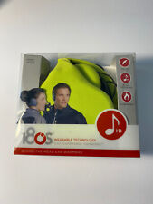 180s Wearable Technology HD Headphones Behind the Head Ear Warmers Lime Green