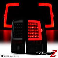 """For 07-13 GMC Sierra 1500 2500 3500 """"SINISTER BLACK"""" Smoke LED Tail Light Lamp"""