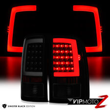 "For 07-13 GMC Sierra 1500 2500 3500 ""SINISTER BLACK"" Smoke LED Tail Light Lamp"
