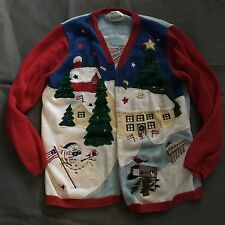Vintage Quacker Factory Americana Ugly Christmas Sweater Woman's Medium Large
