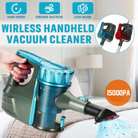 2 in1 Cordless Handheld Vacuum Cleaner Carpet Dust Suction Collector Hom