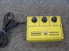 MXR STEREO CHORUS 134 EFFECTS PEDAL BLOCK LOGO Vintage  80's