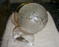 Decorative Suspended Glass World Globe - Paperweight / Sculpture - NR