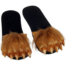 Adult Werewolf Feet Costume Slippers Shoes Wolfman Warg Flip-Flop Sandals LARGE