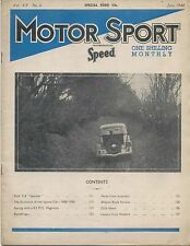 Motor Sport 6/1944 Ford V8 Specials, K3 MG Magnette, Sports Cars 1908-1938 +