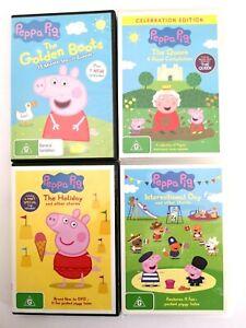 ABC Kids Peppa Pig Children Adventure DVD Disc Set of 4 Collection Bundle Bulk