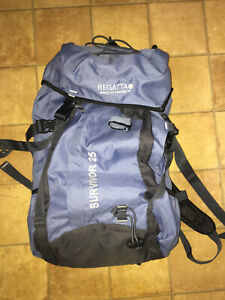 Regatta Large Hiking Camping Light Blue Backpack Very Good Condition