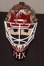PHOENIX COYOTES Steve Passmore unused ITECH goalie mask from 2005-2006 preseason
