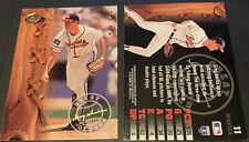 1995 Leaf Baseball Great Gloves Insert Card #11 Greg Maddux HOF Atlanta Braves