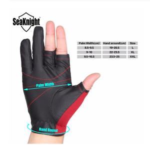SeaKnight Sport Winter Fishing Gloves 1Pair/Lot 3 Half-Finger