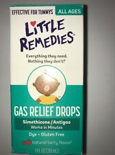 New ✿ Little Remedies Tummys Gas Relief Drops Natural Berry Flavor 1 Oz