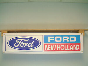 Ford New Holland Banner tractor shed Agricultural Show Workshop Display sign