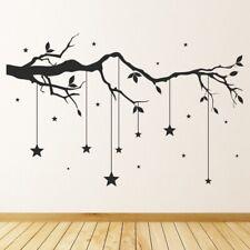 Tree Branch Hanging Stars Wall Sticker WS-44163