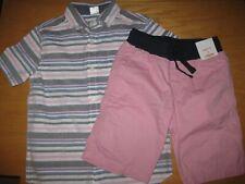NWT Gymboree Jawsome size 6 Set Pink Gray Striped Shirt Pink Shorts