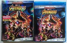 MARVEL AVENGERS INFINITY WAR BLU RAY + SLIPCOVER SLEEVE FREE WORLD SHIPPING BUY
