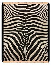 Walk On The Wild Side Zebra Damask Afghan Throw