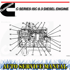CUMMINS C SERIES ISC 8.3 DIESEL ENGINE WORKSHOP SERVICE REPAIR MANUAL ~ DVD