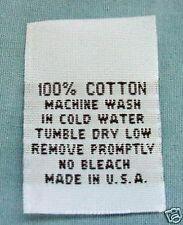 25 pcs WOVEN CLOTHING LABELS, CARE LABEL -  100% COTTON
