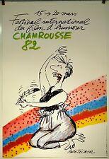 AFFICHE FESTIVAL CHAMROUSSE 1982 signée bretecher 60x40