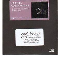 (EA533) Martha Wainwright, Can You Believe It - 2012 DJ CD