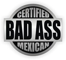Bad Ass Mexican Hard Hat Decal | Helmet Sticker Label | Mexico Flag Flags Hecho