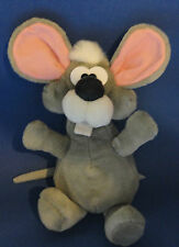 Vintage Ganz Bros Pizzazz Gray Mouse Plush Stuffed Animal Toy 1988 12""