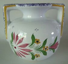FRENCH FAIENCE Hand Painted Stick Spatter VASE Breton Fait Main 308