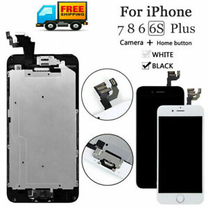For iPhone 6S 8 6 7 Plus Complete LCD Touch Screen Assembly Replacement W/Button