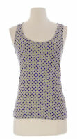 BODEN Women's Purple/Grey Polka Dot Sleeveless Scoop Neck Cotton Top US Sz 6 NEW