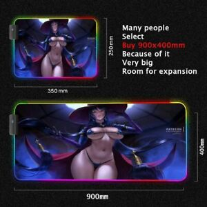 XL Sexy Girl Mouse Pad Sweet Ass Naked Lady Long Legs Wow Big Tits RGB Mice Mat