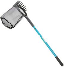 Pond Shark Net Skimming Maintenance Water Garden Telescoping Steel Handle 60 In
