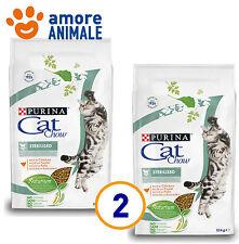 2 SACCHI - Purina Tonus Cat Chow Sterilized 10 kg per Gatti Sterilizzati