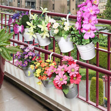 10 Pcs/set Iron Metal Hanging Flower Pots Balcony Plant Garden Planter Home Wall