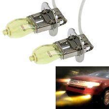 2 X H3 HOD Xenon Bulbs 12V 100W 3500K Yellow Light Headlights
