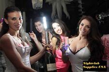 LED STROBE BATON TOPPER Silver VIP Champagne Bottle Service Sparkler GOLD CASE