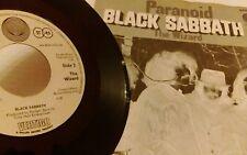 "BLACK SABBATH - PARANOID 7"" GERMANY ORIG 1970 RARE EX ULTRA RARE"
