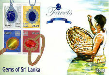 Sri lanka 2015 neuf sans charnière facettes gems blue star sapphire 4v m/s bijoux timbres