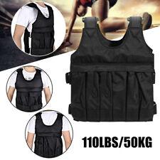 110LBS/50KG Adjustable Weighted Vest Loss Training Running Jacket Waistcoat