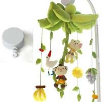 Hanging Rotary Baby Cot Mobile Crib Bed Toys Wind-up Music Box Bell Gift Tool