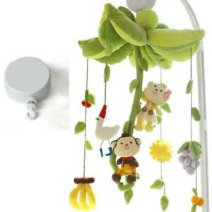 Hanging Rotary Baby Cot Mobile Crib Bed Toy Wind-up Music Box Infant Bell Decor