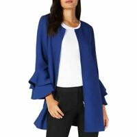 ALFANI NEW Women's Flared-sleeve Zip-front Jacket Top TEDO