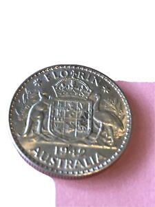 1942 S Florin Australian Coin Higher grade Ref: MM04