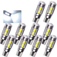 10X 10SMD T10 White 5630 LED 194 W5W Canbus Error Free Car Side Wedge Light Bulb