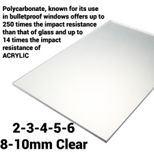 2mm 3mm 4mm 5mm 6mm 8mm 10mm Clear Perspex Sheet Polycarbonate Solid Sheet