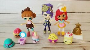 Shopkins Lil Shoppie Happy Places Pampered Puppy Theater Lot 3 Dolls Hollie Wood