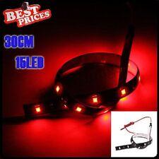 Rouge 30cm 15 LED SMD voiture Neon Van flexible Grill Lampe bande de 12V étanche