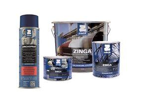 Zinga Cold Galvanising Zinc Coating 500ml Aerosol 1, 2, 5 kg & Solvent  Zingasol