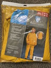 PREMIUM Westchester Protective Gear 3-Piece Yellow Polyester Rain Suit 3XL 54-56