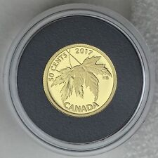 Canada 2017 The Silver Maple Leaf: 1/25 oz. Pure Gold 50-cents Proof Coin